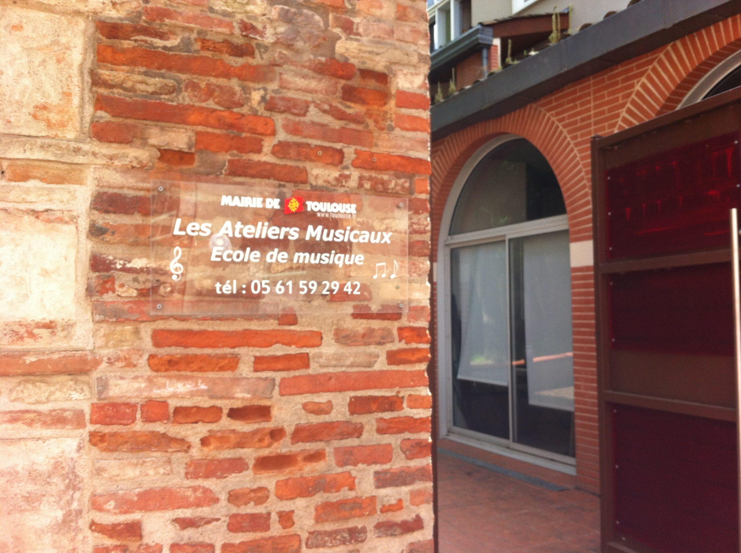 Plaque entrée Les Ateliers Musicaux