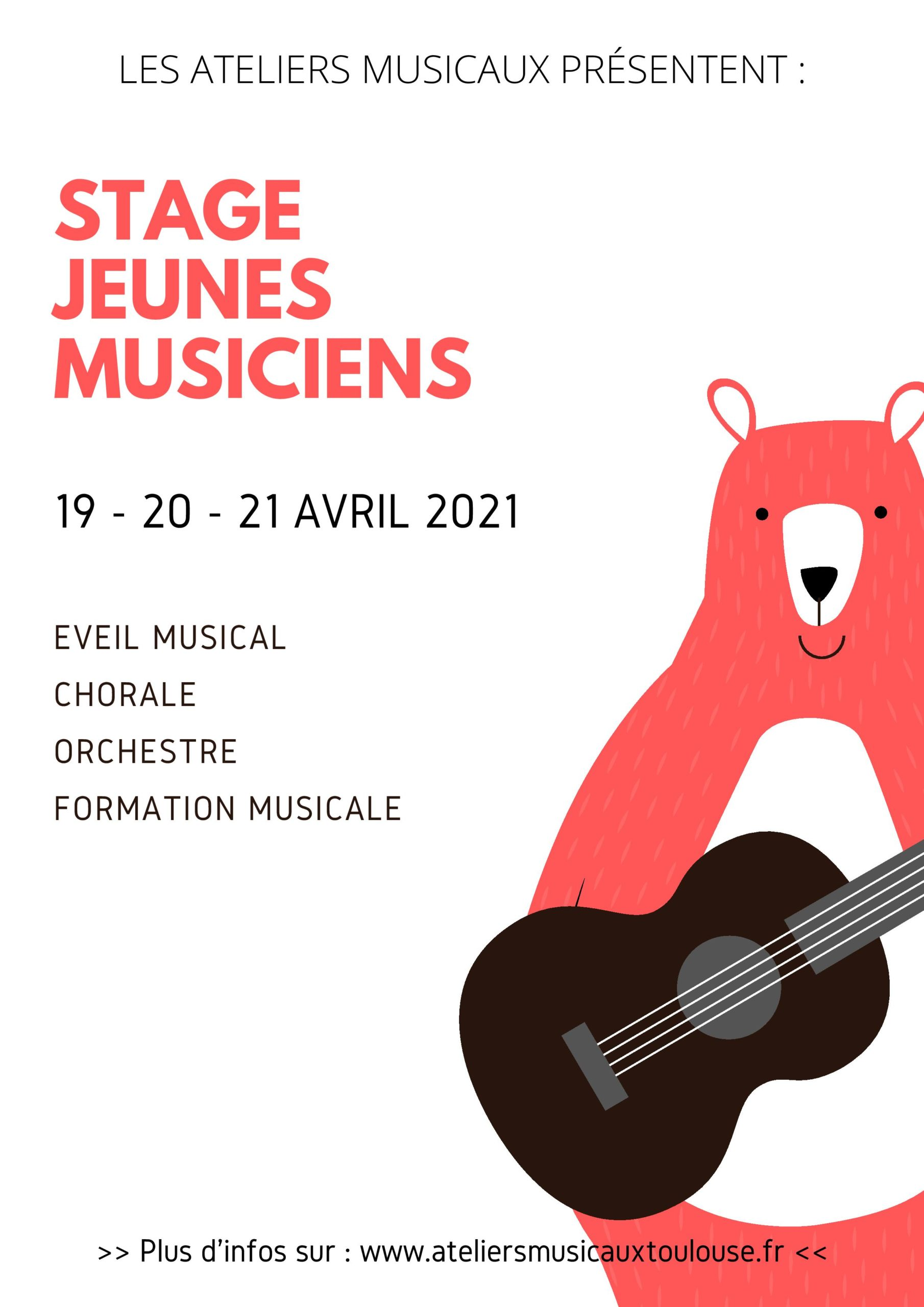 Affiche stage - avril 2021
